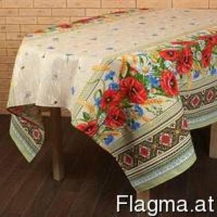 Скатерти ,полотенца в украинском стиле, хлопок