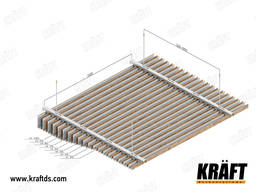 Rail suspended ceiling from the manufacturer